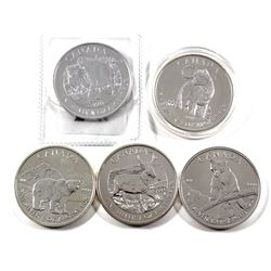 2011-2013 Canada $5 Wildlife Series 1oz Fine Silver Coin Series (Tax Exempt) You will receive the 20