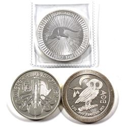 2015 & 2017 World 1oz Fine Silver Coins (Tax Exempt) You will receive a 2015 Austria Philharmonic, 2
