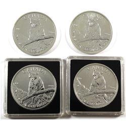 4x 2012 Canada $5 Cougar 1oz Fine Silver Coins. (Tax Exempt) 4pcs.