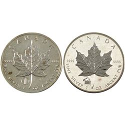2012 Canada $5 Titanic Privy & Leaning Tower of Pisa Privy 1oz Silver Maples (Tax Exempt) Toning. 2p