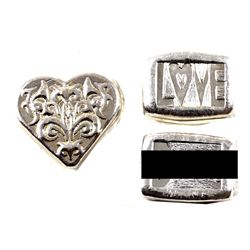 Beaver Bullion 1oz Fine Silver Art Bars - B***h - Love - Heart (Tax Exempt) 3pcs.