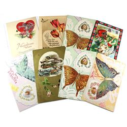 1909-1914 Valentine Greetings Postcard Collection.  All but 1 postcard contains personal greetings,