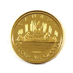 2005 Canada 50-cent 1/25oz Fine Gold Voyageur (Tax Exempt)