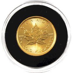 2018 Canada $10 1/4oz Fine Gold Maple (Tax Exempt)