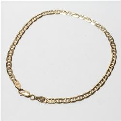 """10K Yellow Gold Anchor Chain Bracelet. Measures 10"""" in length with a total weight of 4.71 grams."""