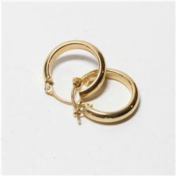 Lady's 14K Yellow Gold Hinged Hoop Earrings.  Total weight of .82 grams.