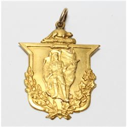 1914-1918 Great War (WWI) 10K Gold Service Medal.  This medal was presented to W.G.Eldridge, by the