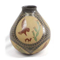Mata Ortiz Sgraffito Polychrome Pottery, Gonzalez
