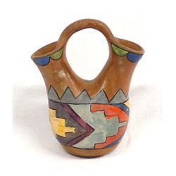 Native American Navajo Pottery Wedding Vase