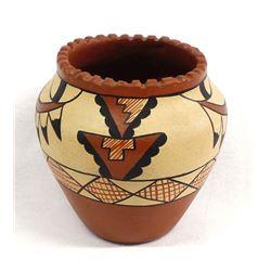 Jemez Polychrome Pottery Jar by L. Toya