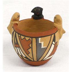 Jemez Miniature Pottery Puppy Friendship Pot