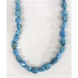 Navajo Morenci Turquoise Nugget Necklace