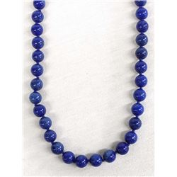 Lapis Knotted Bead Necklace