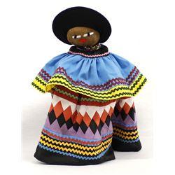 Native American Seminole Palmetto Fiber Doll