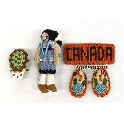 Unique Vintage Native American Beaded Pins