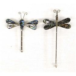 Pair of Abalone Dragonfly Pins