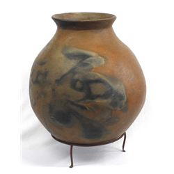 Large Historic Tohono O'odham Pottery Water Olla