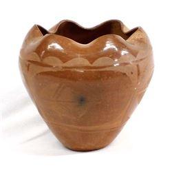 Historic Santo Domingo Redware Pottery Bowl