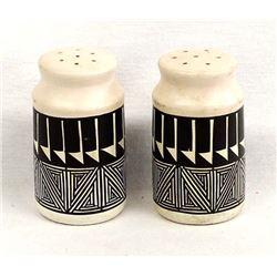 Acoma Hand Painted Ceramic Pottery Shakers