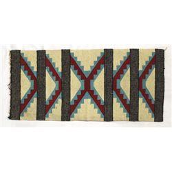 Vintage 1940s Navajo Serrated Diamond Wool Rug