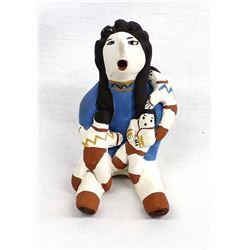 Native American Pottery Storyteller by Barraza