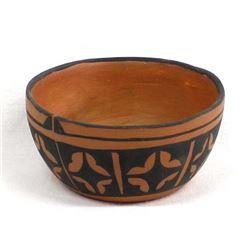 Santo Domingo Pottery Bowl by A. Calabaza