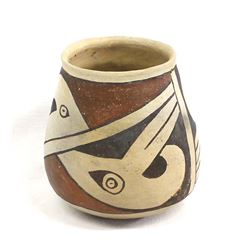 Prehistoric Casas Grandes Stylized Parrot Pottery