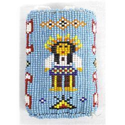 Vintage Native American Beaded Cigarette Case