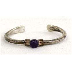 Navajo Sterling & Copper Bracelet by F. R. Wilson