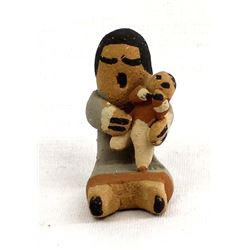 Jemez Pueblo Pottery Miniature Storyteller