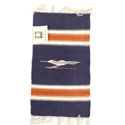 Vintage New Mexico Chimayo Fringed Wool Textile