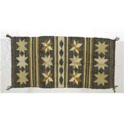 Native American Navajo 8 Pointed Star Wool Rug