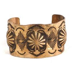 Navajo Copper Repousse' Cuff Bracelet