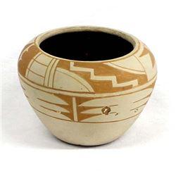 Tesuque Pueblo Pottery Bowl by Dominguita Abeita