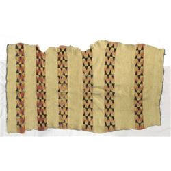 Antique Native American Navajo Wool Lap Blanket