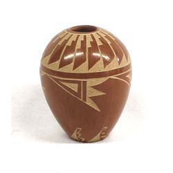 Jemez Pueblo Carved Pottery Seed Jar by Ida Yepa
