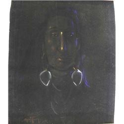Original Painting on Velvet Paper, Christofferson