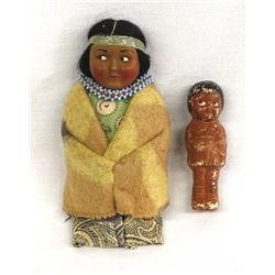 2 Vintage Skookum Dolls