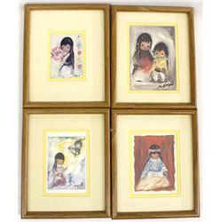 4 Framed De Grazia Prints