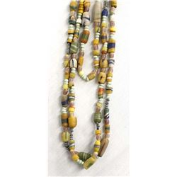 3 African Trade Bead Necklaces