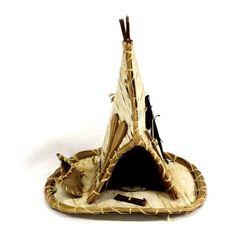Native American Iroquois Birch Bark Tipi
