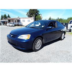 E1 --  2003 HONDA CIVIC EX  , Blue , 229040  KM's