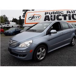 B3 --  2008 MERCEDES B200 HATCHBACK, BLUE, 127,771 KMS