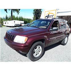 F1 --  2000 JEEP GRAND CHEROKEE LAREDO , Red , 190364  KM's