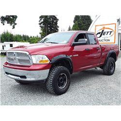 H1 --  2010 DODGE RAM 1500 CREW CAB , Red , 205789  KM's