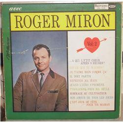 Vinyl LP record 33 Roger Miron in French - en Français vieux disque