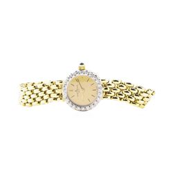 0.19 ctw Diamond-set Baume-Mercier Wrist Watch - 14KT Yellow Gold