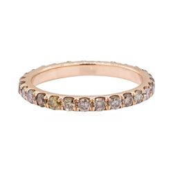 1.00 ctw Chocolate Diamond Eternity Ring - 14KT Rose Gold