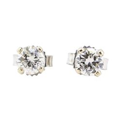 0.52 ctw Diamond Earrings - 14KT White Gold