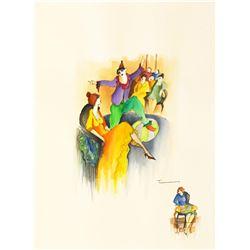 Tarkay Wonderful Watercolor on Paper